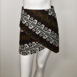 Zara tribal print surplice wrap girly print #f4